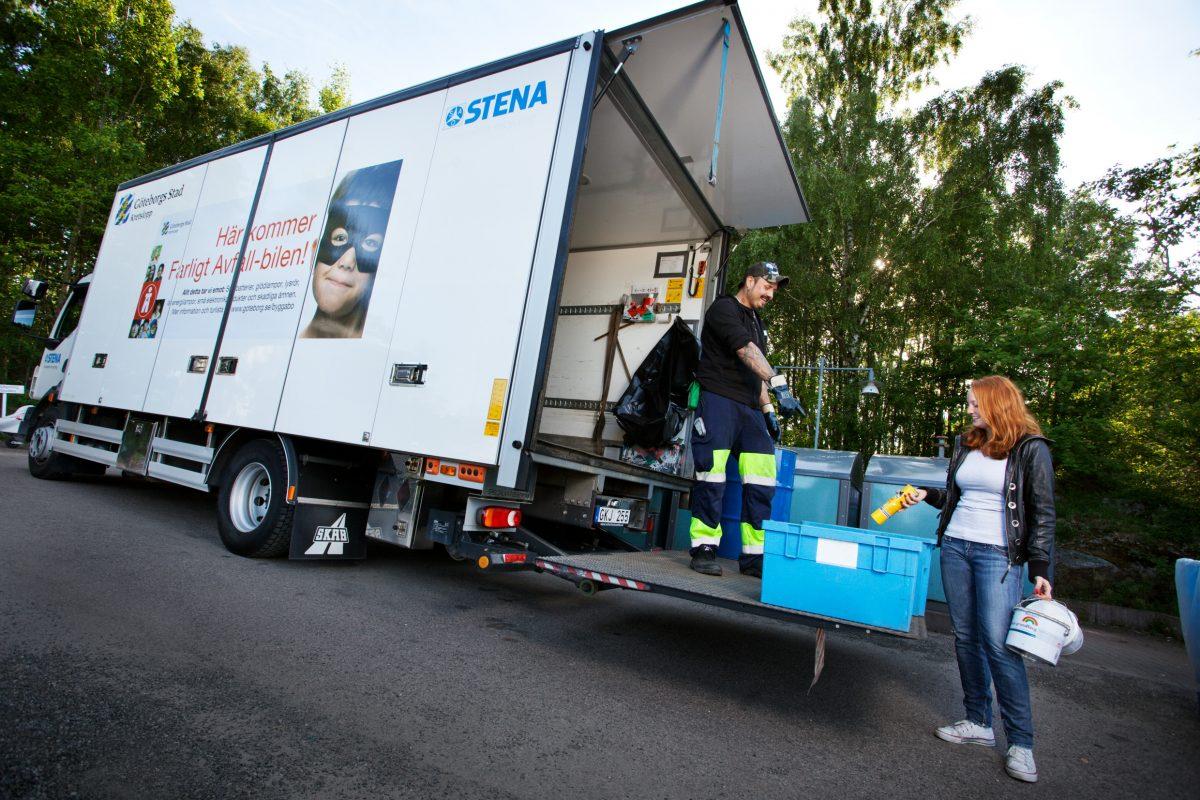 Empresas reciclando en Suecia <br> Foto: Sofia Sabel / imagebank.sweden.se