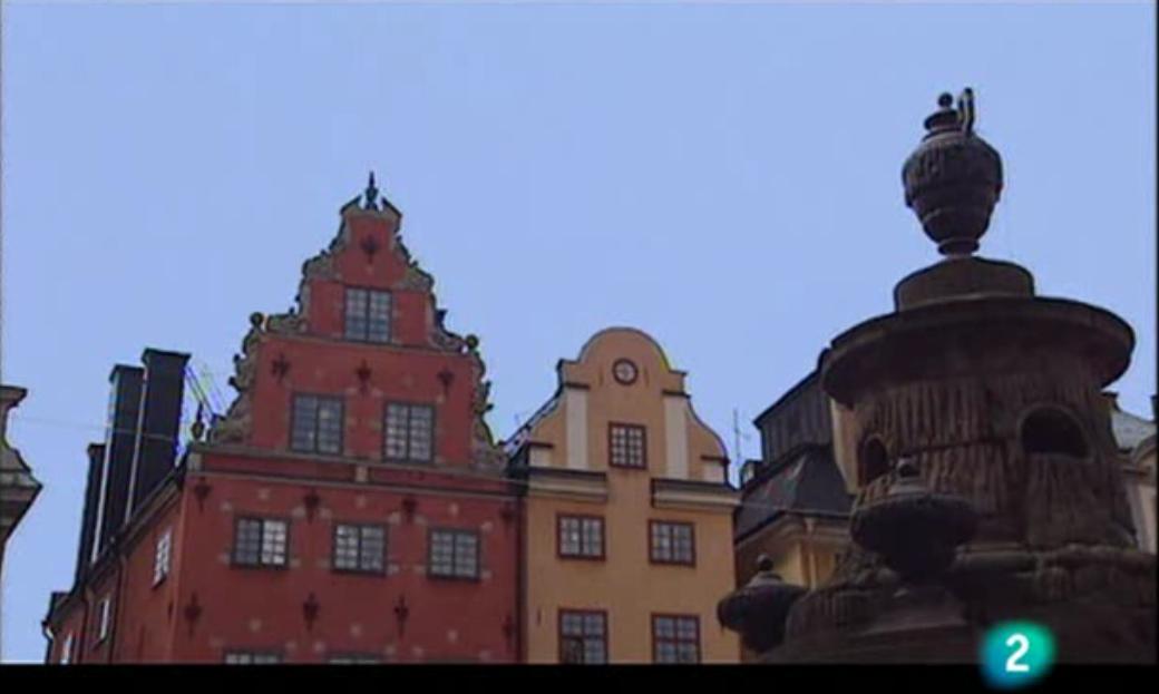Fachadas en la plaza Stortorget en Gamla Stan