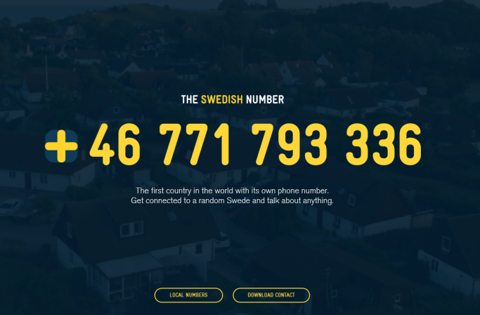 Habla con suecos y suecas en este número de teléfono
