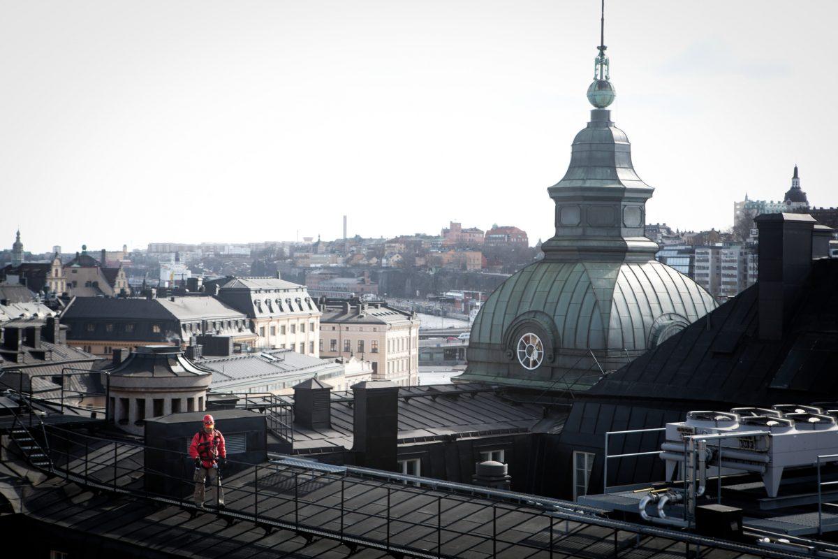 Tour por los tejados de Estocolmo <br> Foto: Tuukka Ervasti / imagebank.sweden.se