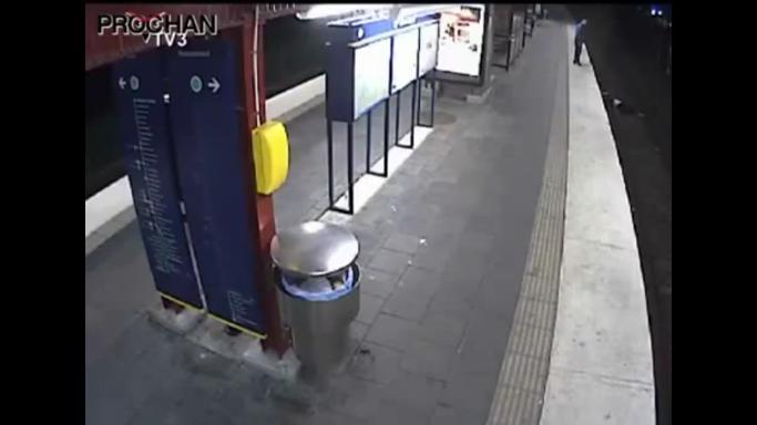 Vídeo robo metro Estocolmo
