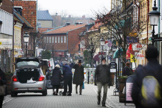 Calle peatonal en Ystad - Foto: Malin Lauterbach