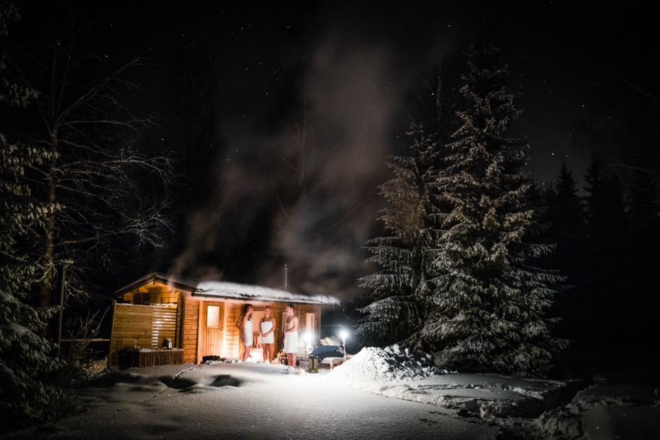 Sauna pre yoga en el hielo en Suecia <br> Foto: Active North / facebook