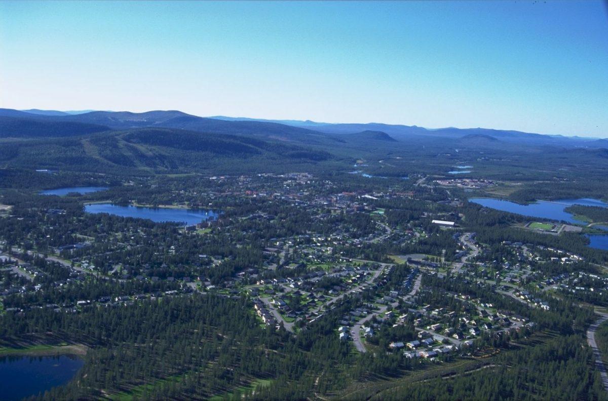 Vista sobre Arvidsjaur <br> Foto: Patrik Ilg