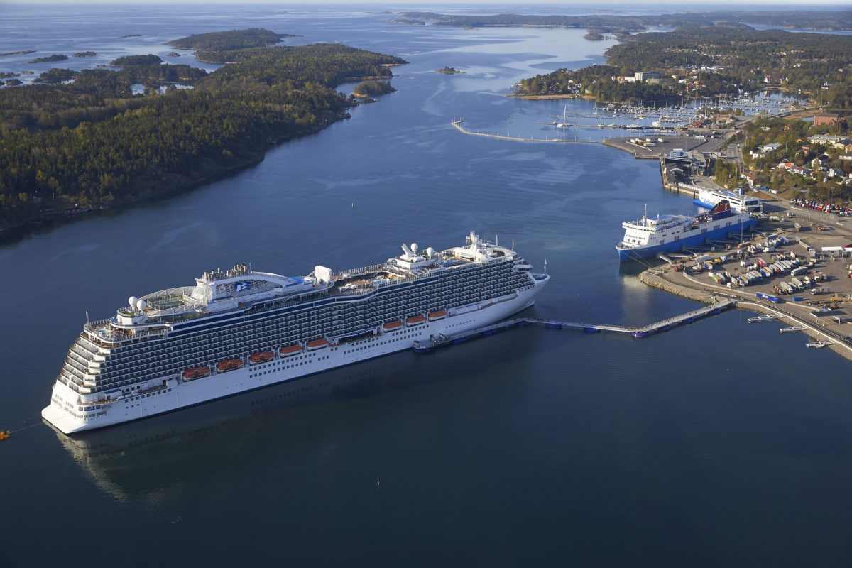 Crucero en el puerto de Nynäshamn <br> Foto: Stockholms hamnar