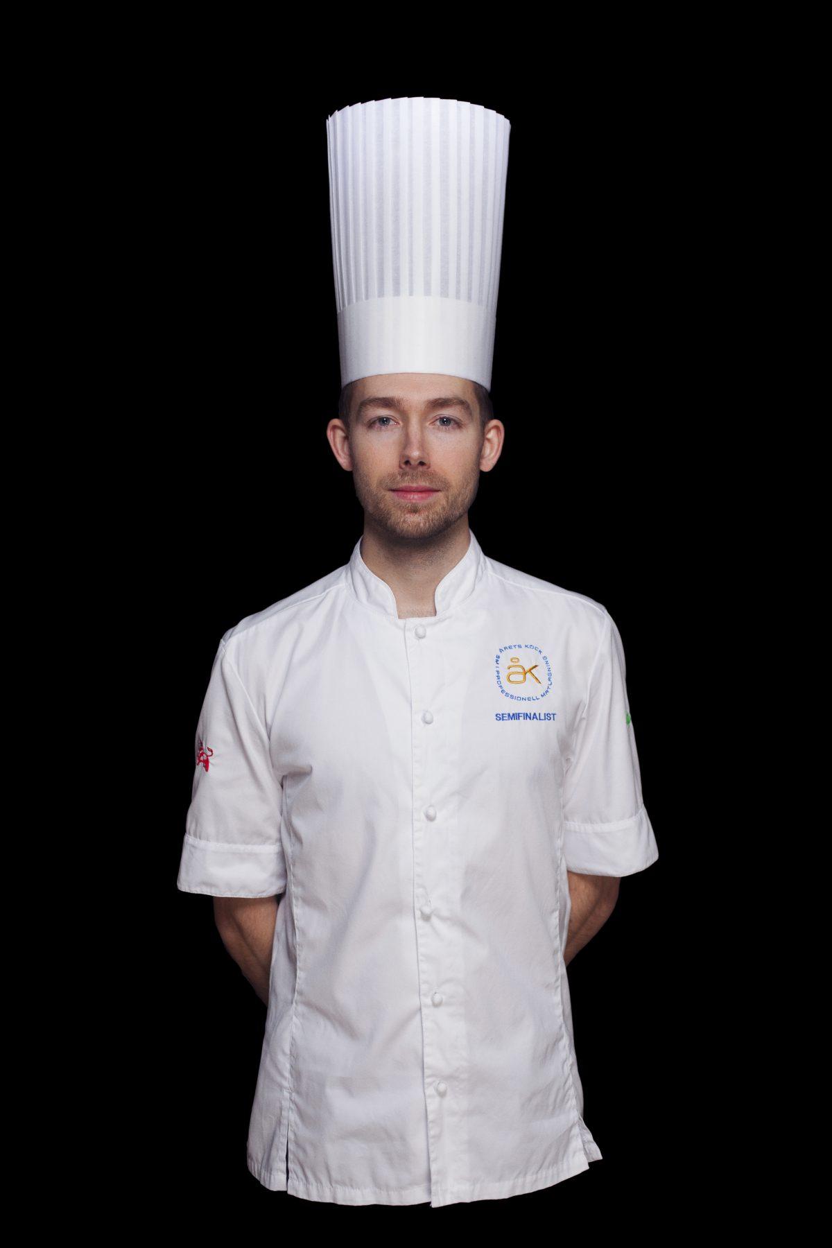 El cocinero del año 2017 en Suecia - Johan Backeus <br> Foto: Jesper Fermgård