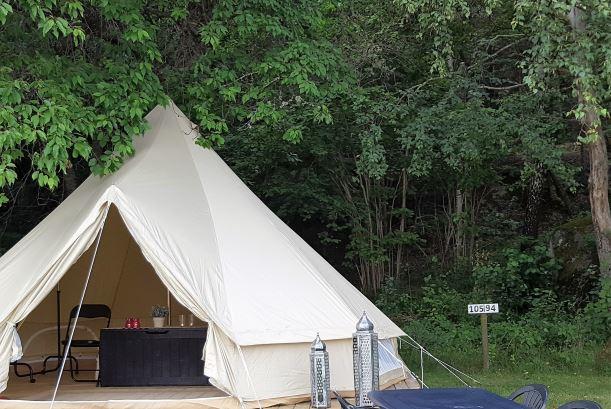 Tienda en Seläters Camping en Suecia