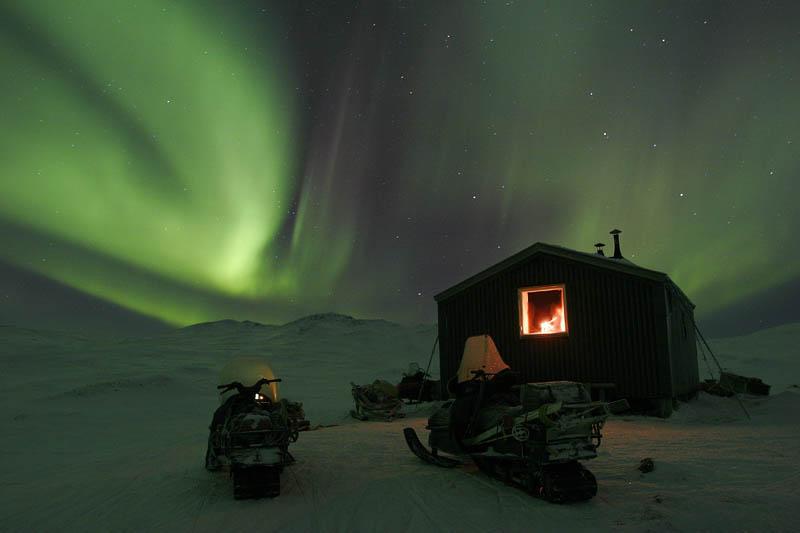 Aurora Boreal en Jokkmokk, Laponia <br> Foto: jokkmokk.se