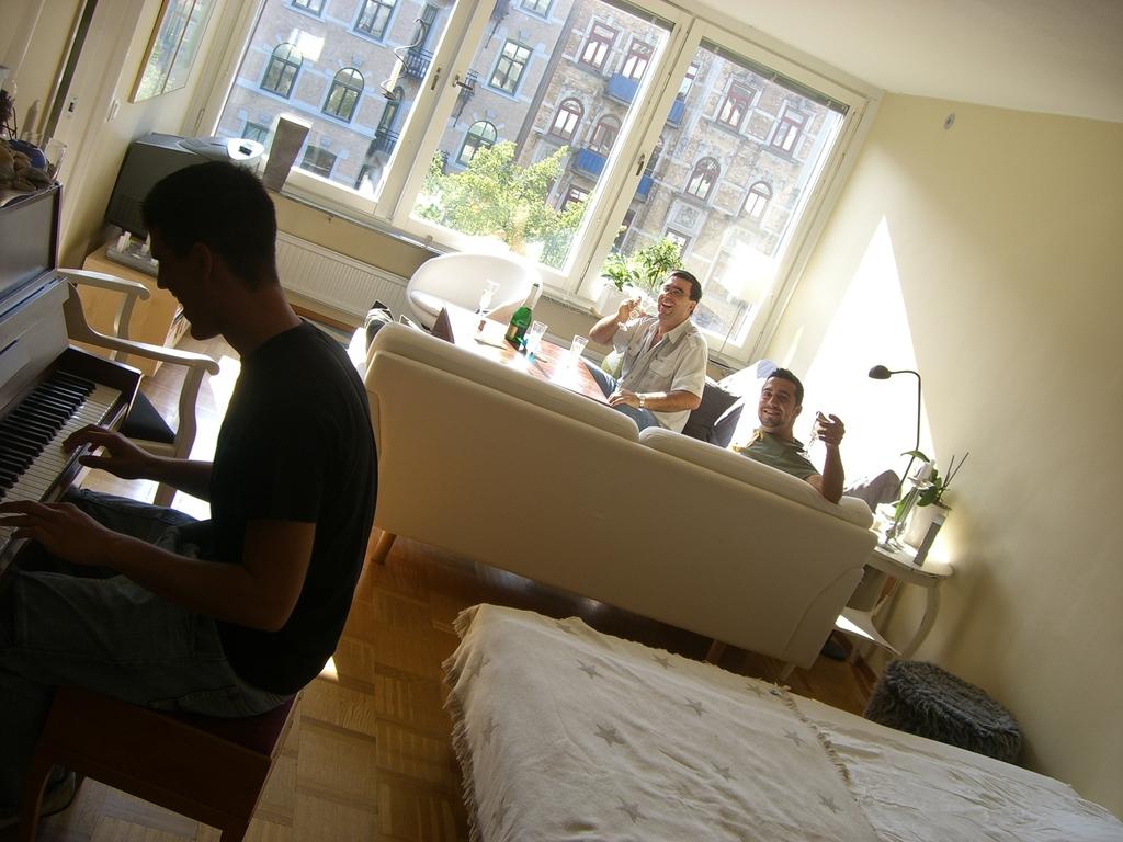 Sesión de piano improvisada en Gotemburgo, <br> Foto: Israel Úbeda / sweetsweden.com
