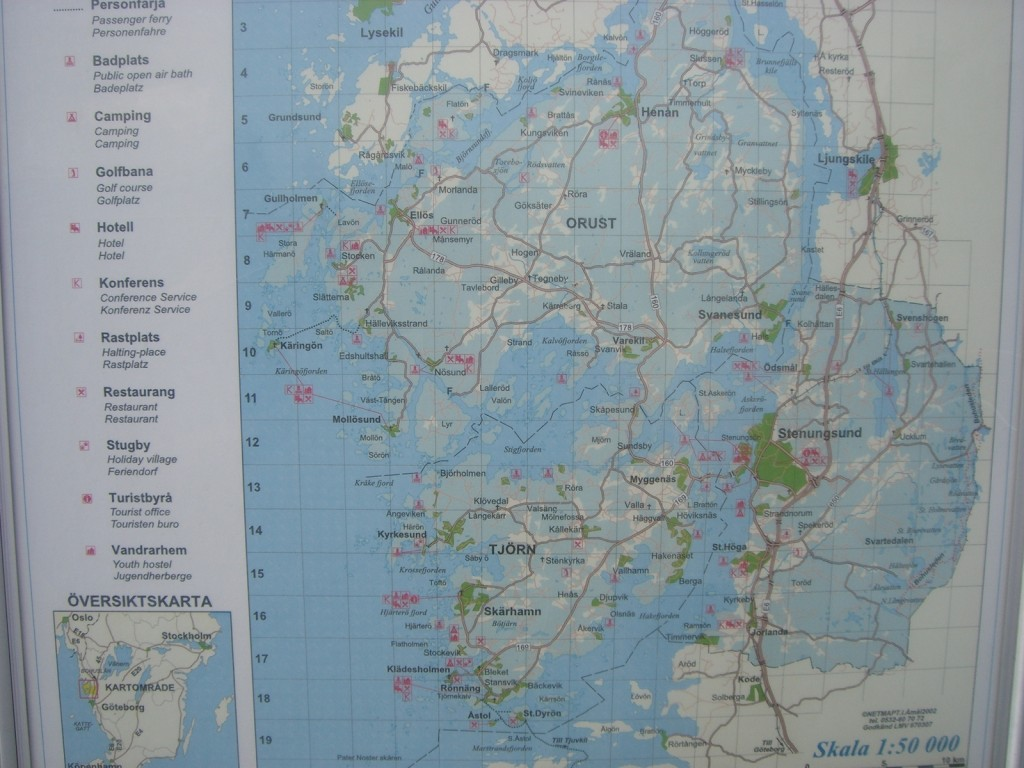 Mapa de Tjörn, Orust y Stenungsund