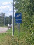 Señal de cámara de control de velocidad en Öland, Suecia