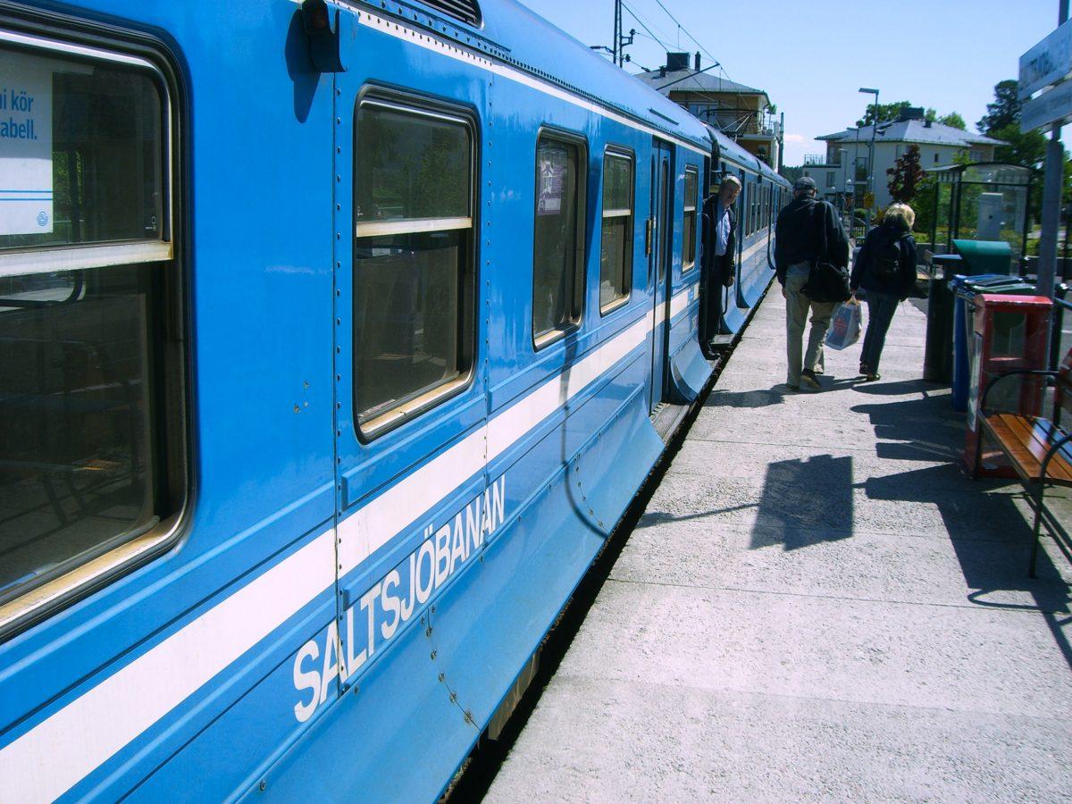Saltjöbanan el cercanías que te lleva al sur de Estocolmo <br> Foto: Israel Úbeda / sweetsweden.com