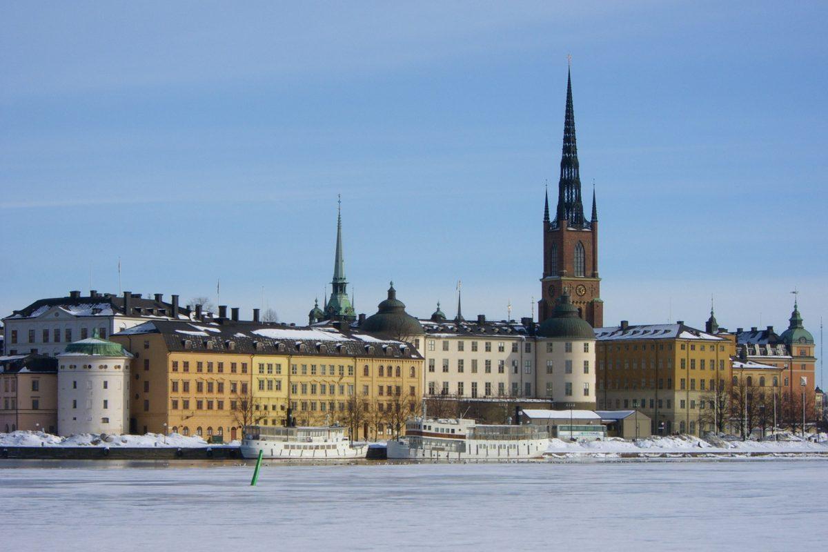 Riddarholmen en Estocolmo a principios de marzo <br> Foto: Israel Ubeda / sweetsweden.com