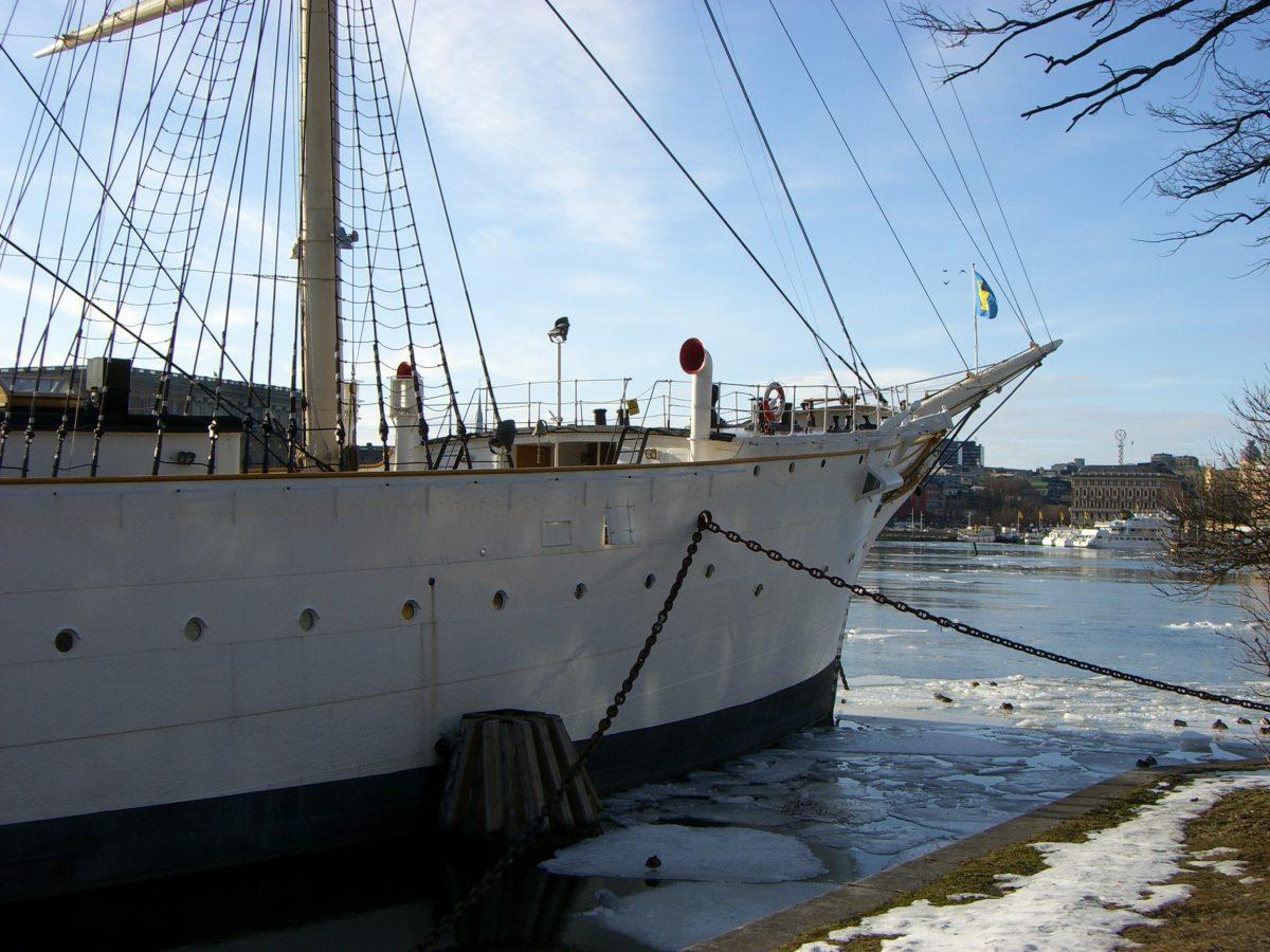El hostal / barco velero Af Chapman en Skeppsholmen, Estocolmo <br> Foto: Israel Úbeda / sweetsweden.com