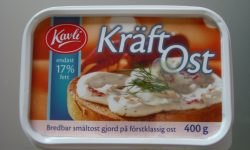 Queso de cangrejo de la marca Kavli