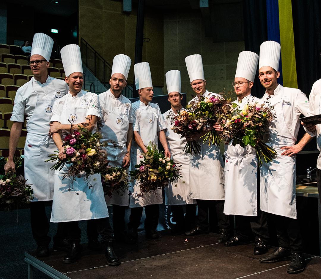 Los 8 finalistas del Årets kock 2016 <br> Foto: Madeleine Landley / aretskock.se
