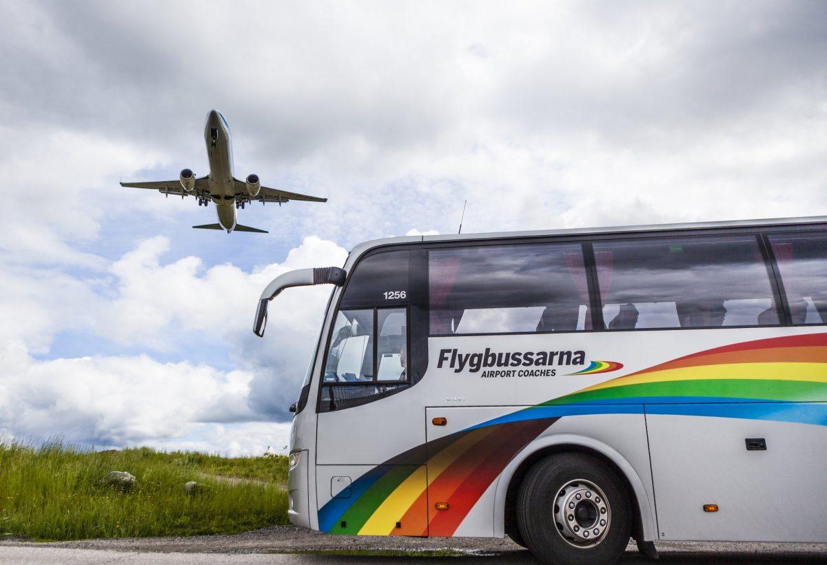 Flygbussarna aerobuses en Suecia <br> Foto: Gustaf Brundin