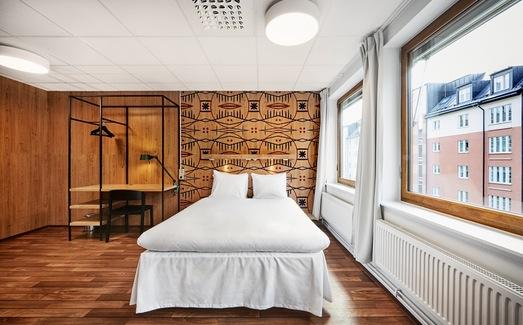 Habitación premium double en el Generator Stockholm <br> Foto: Generatorhostels.com