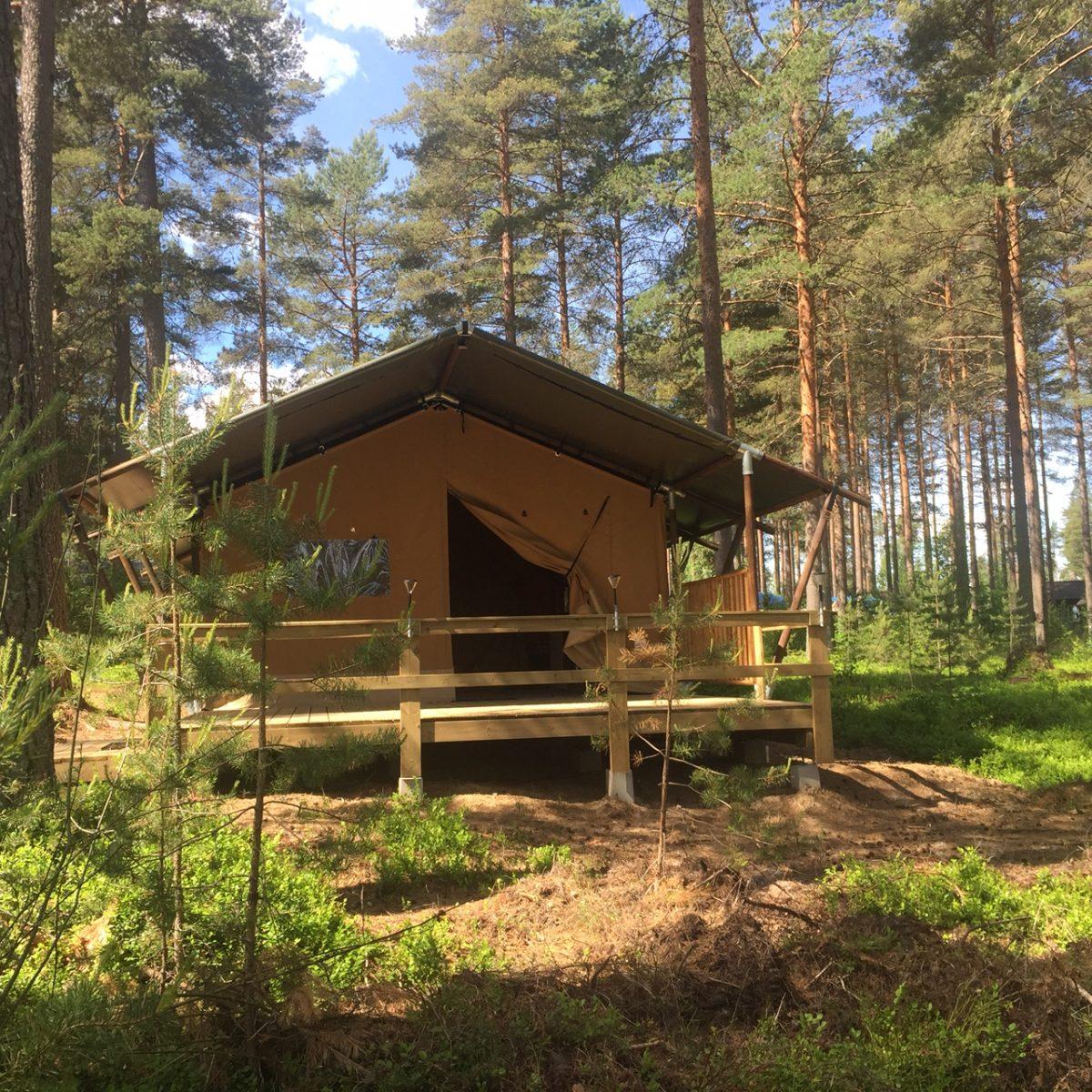 Glamping en Rådastrand Camping en el condado de Värmland, Suecia