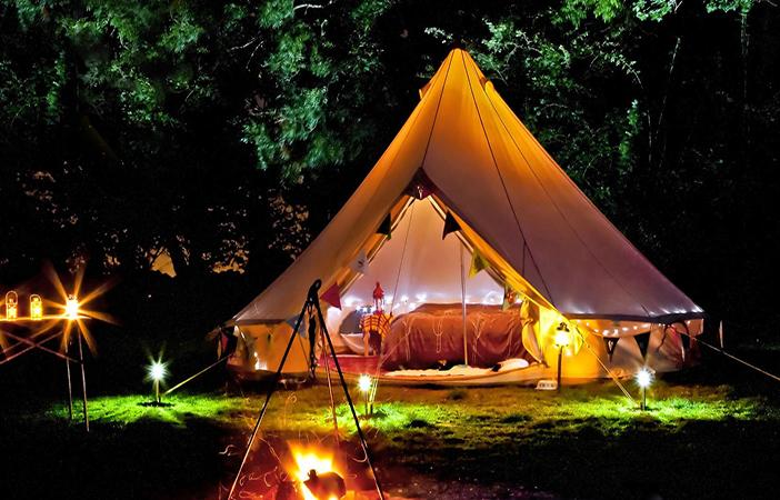 Glamping en el Tredenborgs Camping de Suecia