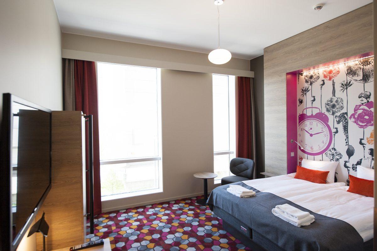 Habitacion de diseno en Motel L Stockholm <br> Foto: Philip Laurell