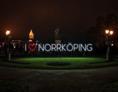 Visit the Norrköping Light Festival in December