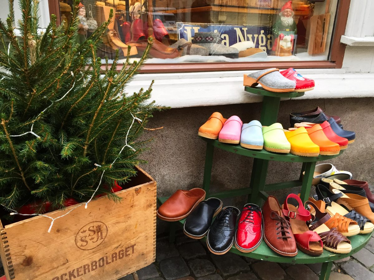 Swedish clogs at Haga in Gothenburg<br /> Photo: Israel Úbeda / sweetsweden.com