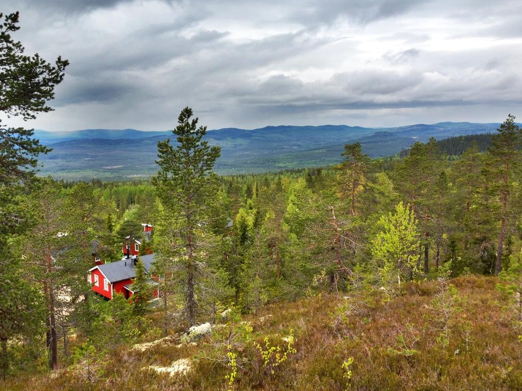 Panorámica de las montañas de Värmland en HDR <br>Foto: Israel Úbeda