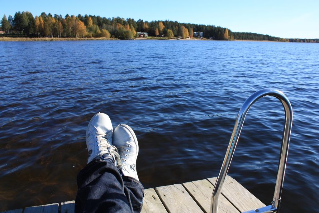 Descansando en Laponia <br> Foto: Israel Úbeda / sweetsweden.com