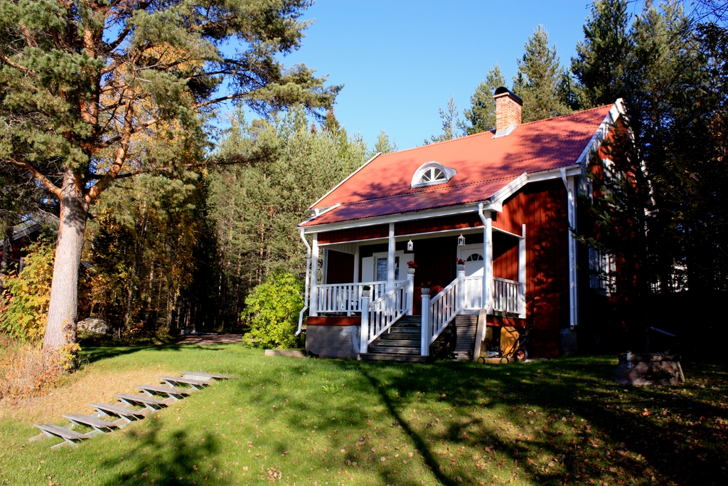 Casa sueca a la orilla del Luleälv en Luleå, Suecia <br>Foto: Israel Úbeda / sweetsweden.com