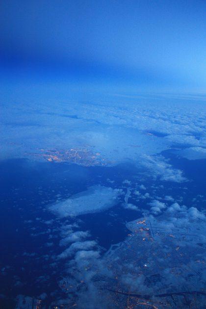 El estrecho de Öresund desde el aire Foto: Israel Ubeda / sweetsweden.com