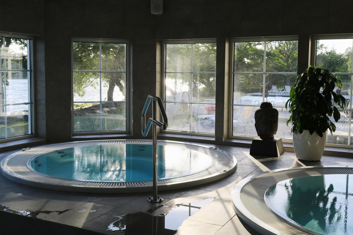 Zona de aguas en el hotel Gränsö Slott <br> Foto: Israel Úbeda / sweetsweden.com