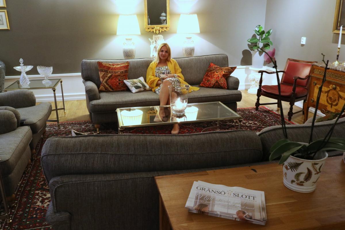 En el interior de Gränsö Slott <br> Foto: Israel Úbeda / sweetsweden.com