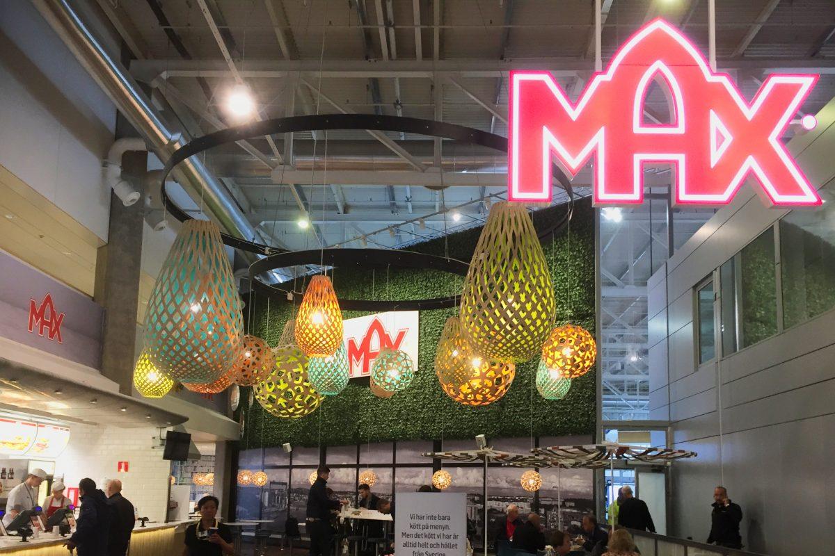 Cadena de hamburguesas mAx en el aeropuerto de Gotemburgo <br> Foto: Israel Ubeda / sweetsweden.com