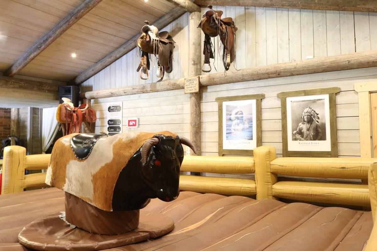 Toro mecánico en High Chaparral <br> Foto: Israel Úbeda / sweetsweden.com