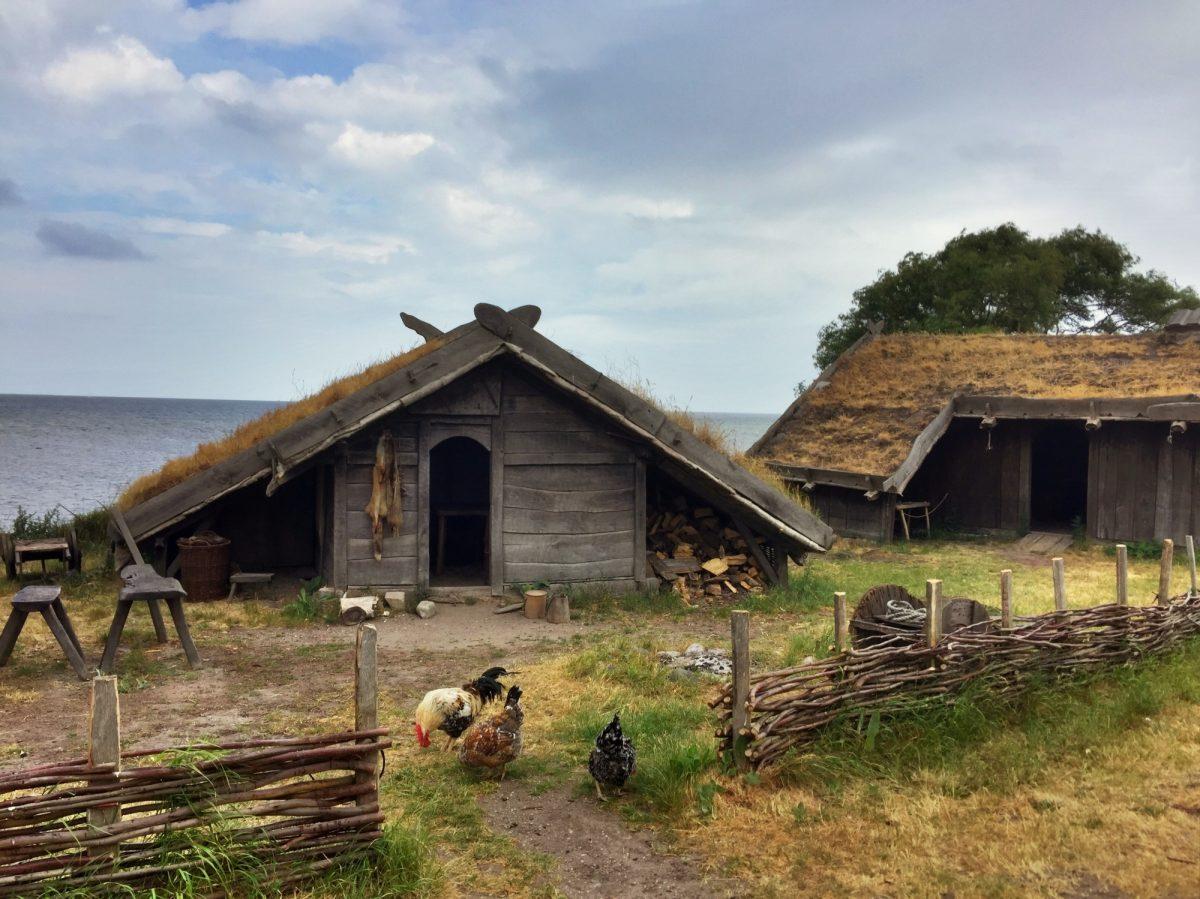 Casas del poblado vikingo de Foteviken <br> Foto: Israel Úbeda / sweetsweden.com
