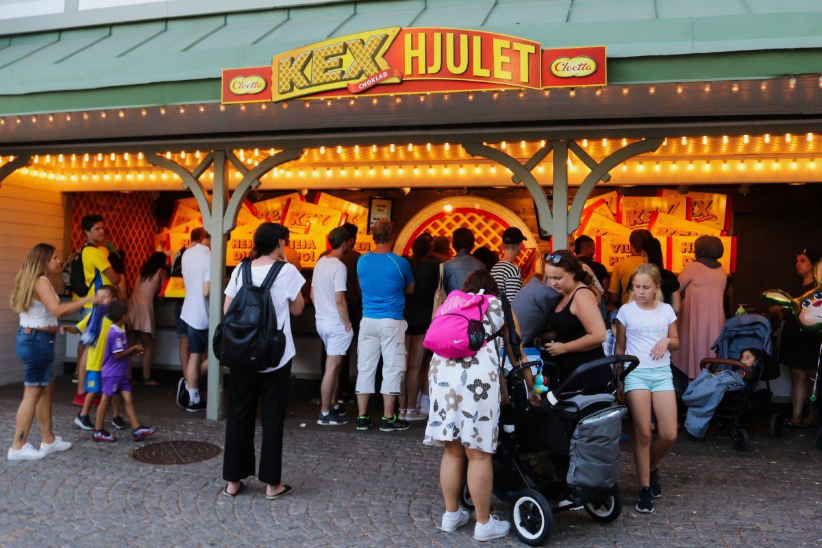 Juegos para ganar chocolatinas gigantes en Liseberg <br> Foto: Israel Úbeda / sweetsweden.com