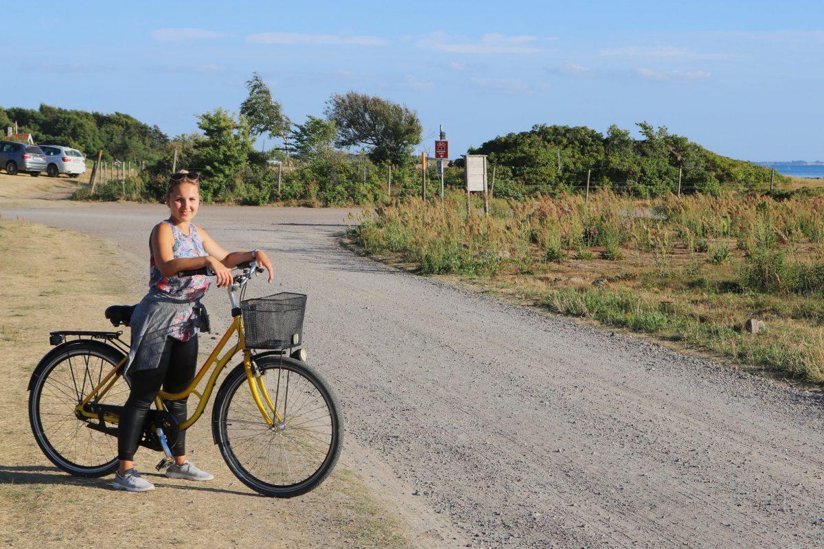 En bici de alquiler por Vejbystrand, Escania <br> Foto: Israel Úbeda / sweetsweden.com