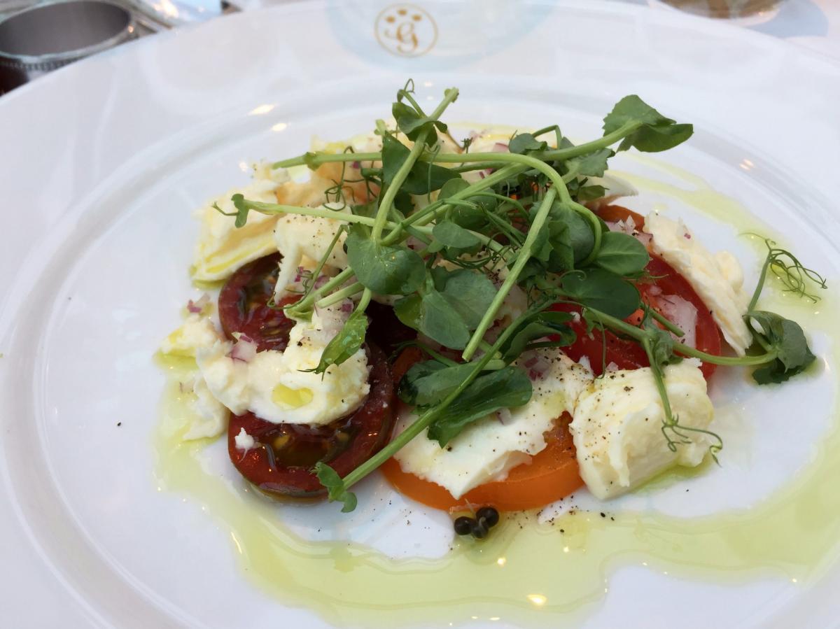 Plato en el restaurante de Gränsö Slott <br> Foto: Israel Úbeda / sweetsweden.com