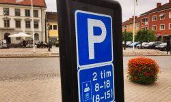 Señal de aparcamiento en Suecia Foto: Israel Úbeda / sweetsweden.com