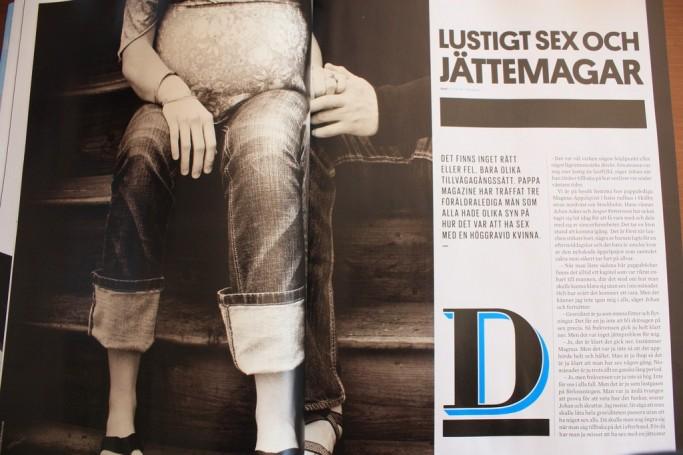 Revista sueca Pappa. Sexo divertido con barrigas gigantes
