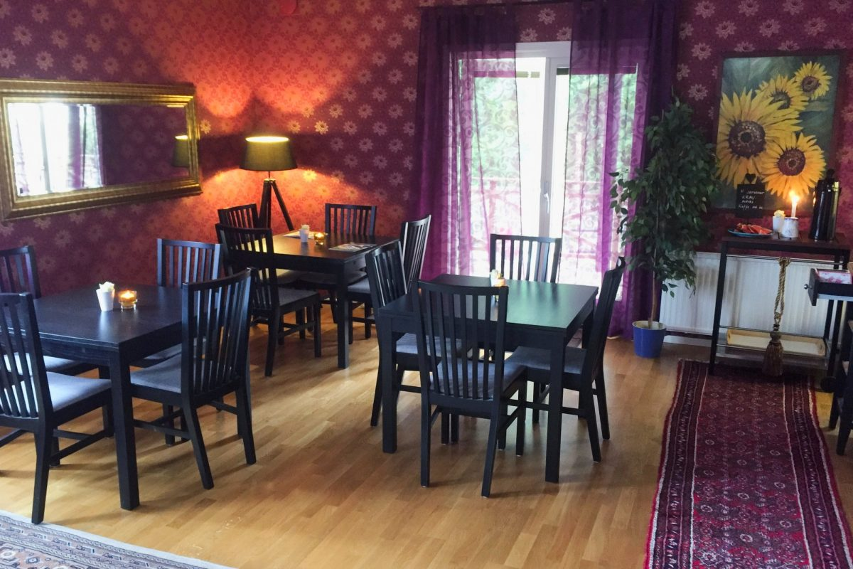 Comedor en Vejbystrands vandrarhem Foto: Israel Úbeda / sweetsweden.com