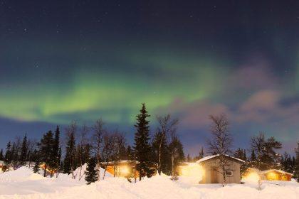 Aurora boreal en Kiruna, Suecia Foto: Israel Úbeda / sweetsweden.com