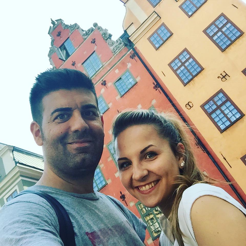 Israel y Heni en Stortorget, Estocolmo