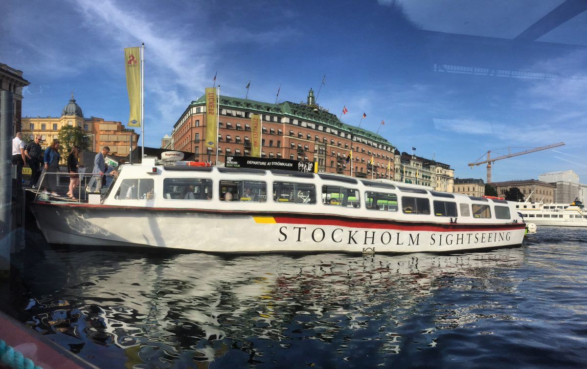 Stockholm Under The Bridges Tour departing from the city <br /> Photo: Israel Úbeda / sweetsweden.com