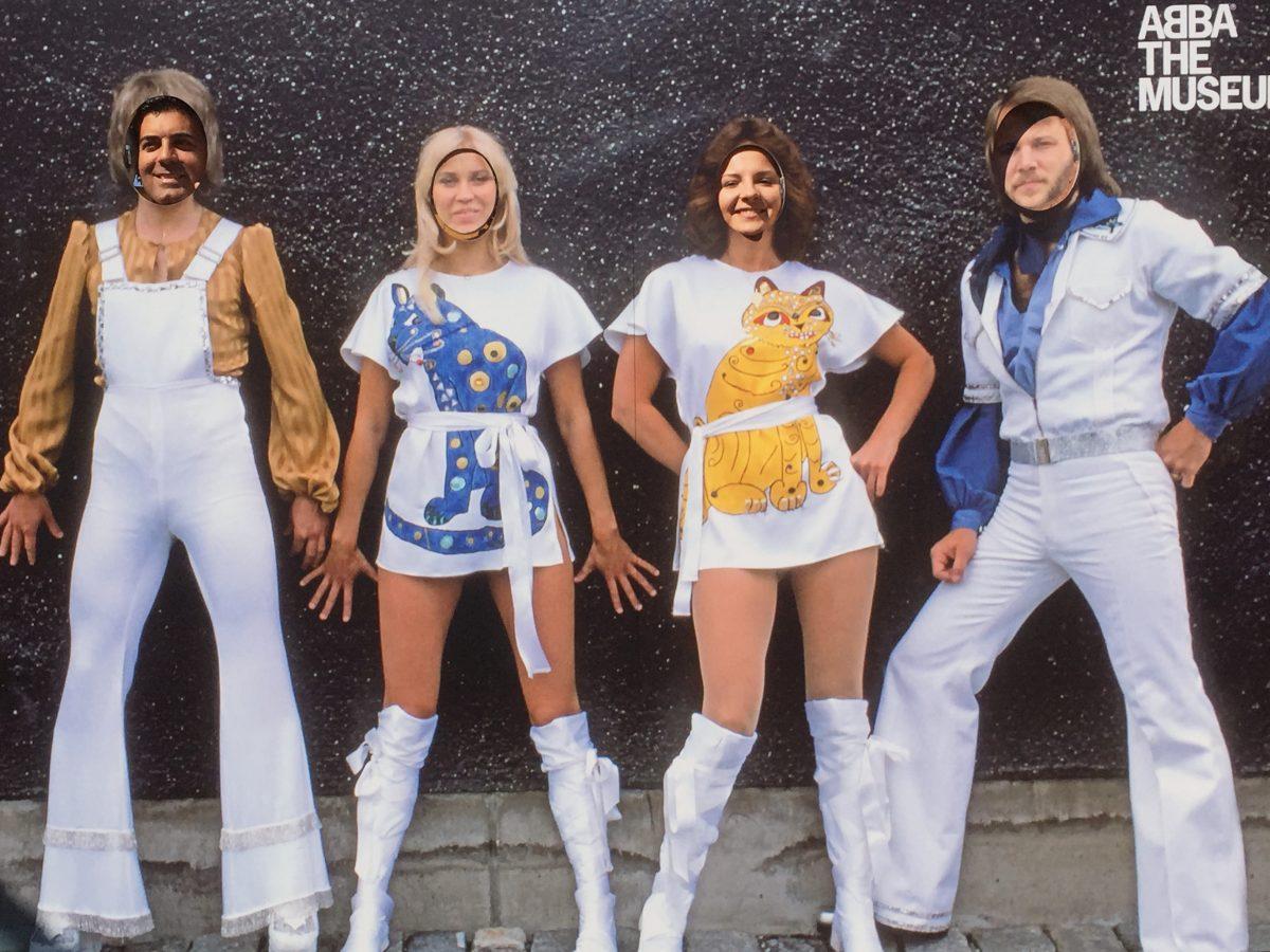 Con mi mujer en el photocall del museo ABBA <br> Foto: Israel Úbeda / sweetsweden.com