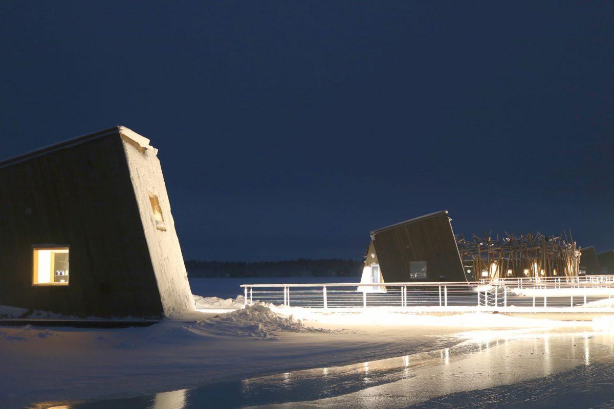 Dos habitaciones flotantes en Arctic Bath