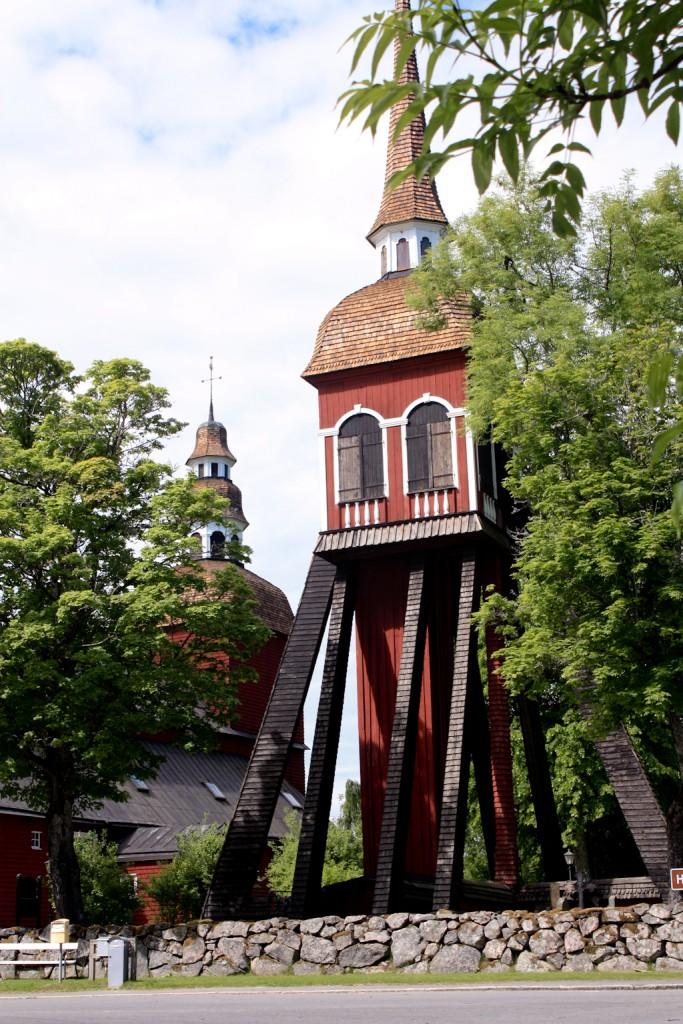 Otra vista de la iglesia de Habo cerca de Jönköping, foto: Israel Úbeda