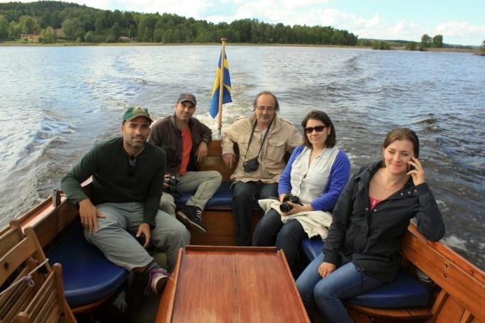 Los integrantes de la excursión por el lago Bunn en Småland, Suecia - foto: Israel Úbeda