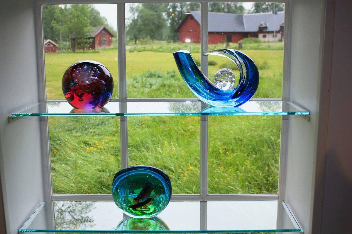 Objetos de vidrio en el Glasriket <br> Foto: Israel Úbeda / sweetsweden.com